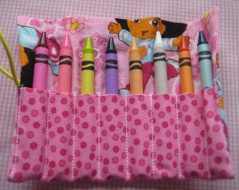 Crayon Roll Dora the Explorer Includes 8 Crayons