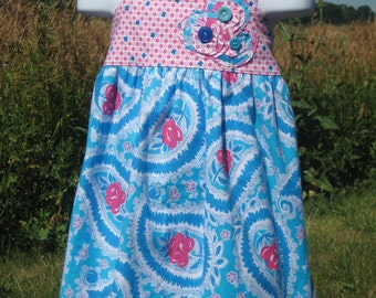 SALE Size 3T Summer Dress Halter Style Custom Boutique Tropical So St. Croix