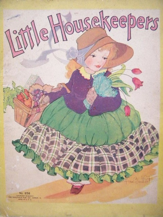 Little HouseKeepers - 1934 Book Illustrated by Fern Bissel Peat