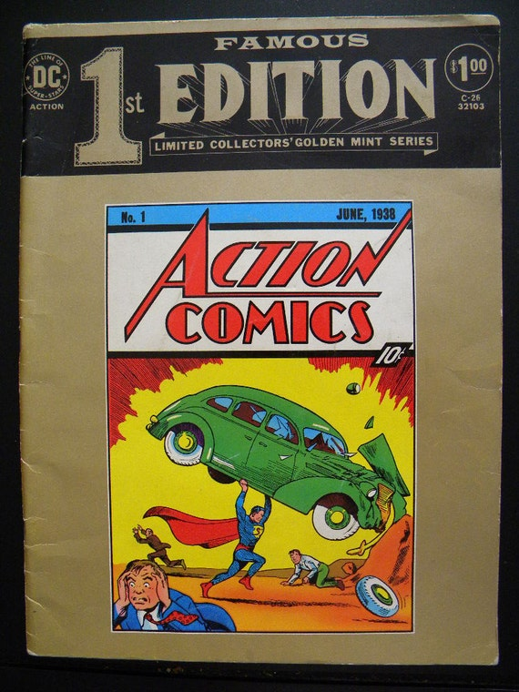Famous First Edition of Action Comics Number 1 - 1974 Collectors Edition Reprint