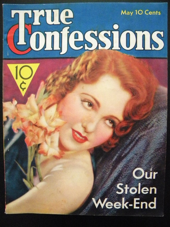 Vintage May 1933 Issue of True Confessions Magazine