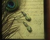 Marta - yellow turquoise and bone  handmade Semi Precious stone Dangle earrings