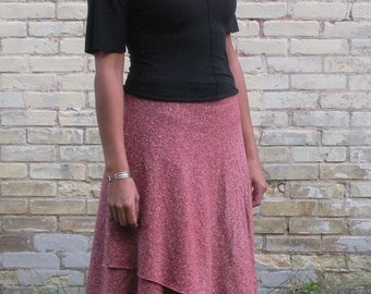 Clove ~ Mid Length Wrap Skirt ~ Hemp & Organic Cotton ~ Made to Order