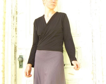 Humble ~ Wrap Top ~ Bamboo & Organic Cotton ~ Made to Order