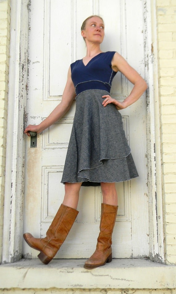 Dakota ~ Wrap Dress ~ Hemp & Organic Cotton Lightweight Denim ~ Made to Order