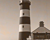 Ireland Photography Lighthouse Landscape Kinsale Head Sepia 5x7 Photo Urban Irish Office And Home Decor
