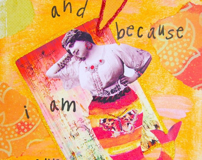 Handmade Altered Art Greeting Card, Size 5x7, Because I Said So and I'm Your Mother, Blank Inside