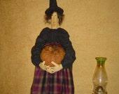 Prim Doll ePattern Witch Halloween Raggedy Rhondas Halloween pumpkin jackolantern crow faap team