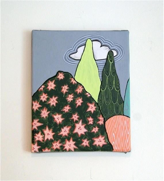 Textured Landscape - Original Acrylic Painting