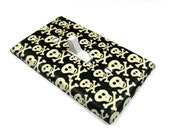Halloween Decor Black and White Skulls Light Switch Cover Halloween Decoration Skull Decor