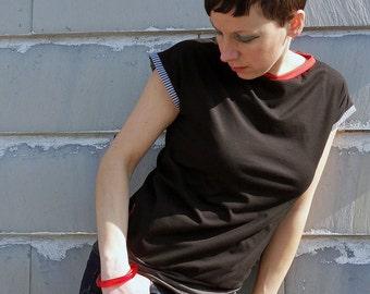 black t shirt ,women's  shirt, tops,short sleeve top, short sleeve, clothing for women,