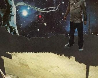 he had big dreams 8X10 collage art print