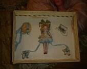 Miniature German Bisque Dollhouse Doll Rare Near Mint in Original Box