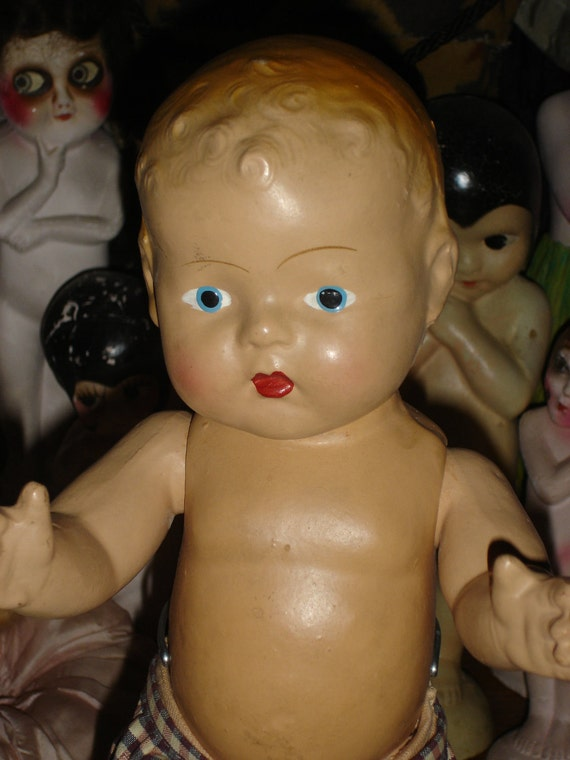 """Reserved for Jill Adorable 17"""" All Composition Baby  Doll"""