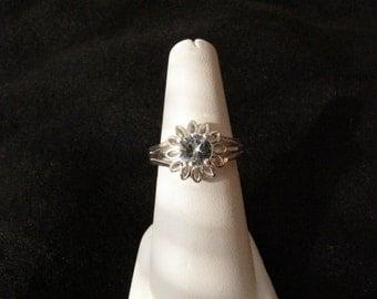 White Zircon Sterling Silver Ring