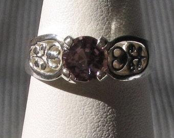 Lavender Spinel Sterling Silver Ring