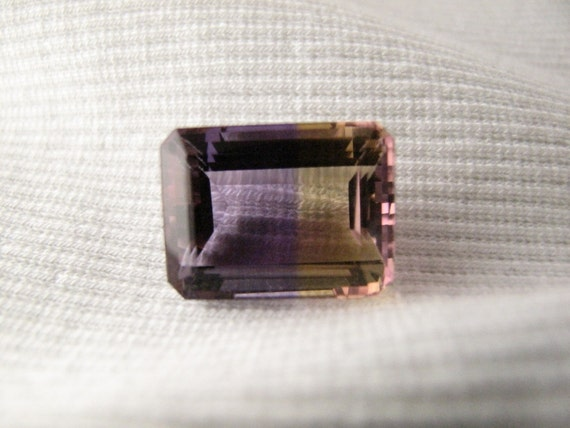 Ametrine Emerald Cut Loose Gem Stone