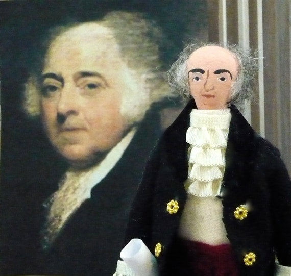 John Adams Doll Historical American President Miniature Art
