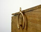 Lucky Wishbone Pin / Wishbone Brooch