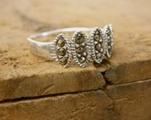 Art Deco Ring - 1930s Ring - Marcasite Ring