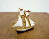 Ship Brooch - Sailboat Pin
