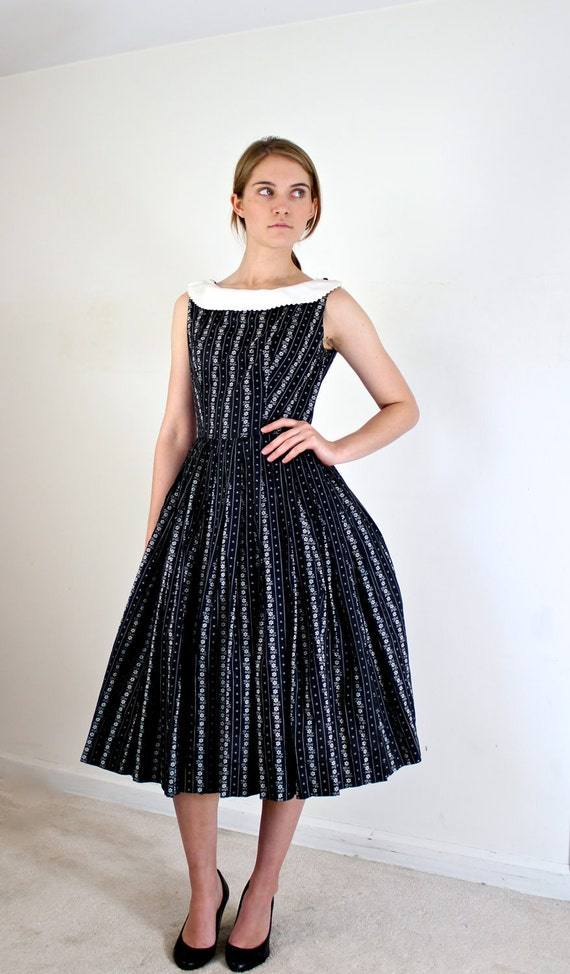 1950s Dress - Black and White 50s Dress