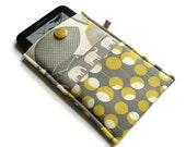 Kindle Sleeve, Kindle Cover, Kindle Case, Ereader case, Padded - Amy Butler and Elephants