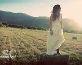 The Vintage Slipdress - Recycled Fabric Wedding Dress #B081