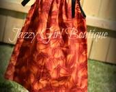 Girls Sport Pillowcase Dress in The Basketball Fabric with Black Ribbon Ties Sz 6mo, 12mo, 18mo, 2T, 3T, 4T, 5 Sz 6, 7, 8 Three Dollars Mor