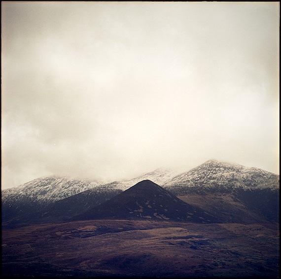 Ireland Print, Ireland Photography, Mountains, Fine Art Photography, Limited Edition, Film, Analog, Landscape Photo, Fields, Square, 30x30