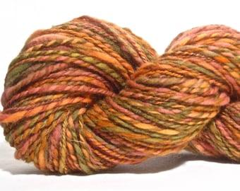 Handspun Merino / Alpaca Yarn - Worsted Weight - 146 yards of Terra Cotta