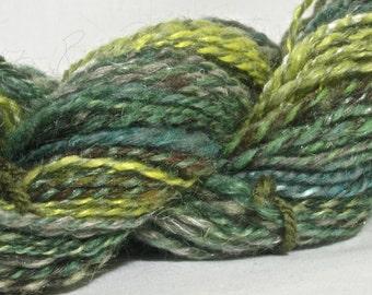 Handspun Art Yarn - Worsted Weight -115 yards of Corbin
