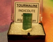 TOURMALINE Bi-Color Natural Terminated Indicolite Blue-Green Crystal In Perky Box From Kunar Afghanistan