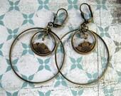 Dreamy Lotus Flower Hoop Earrings
