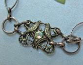 Love Birds Bracelet - Copper and Crystal
