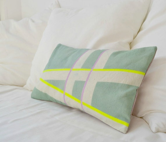 Limited Edition Hand dyed and painted cotton pillow cover