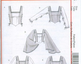 McCalls 4696 Corset Stays Bodice Sewing Pattern Renaissance Medieval Sizes 16-18-20-22