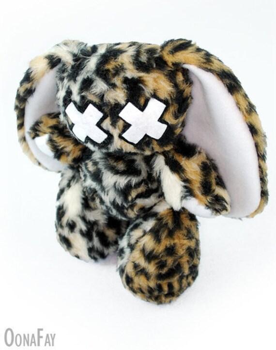 "Emo-Bunny ""June"" // Bunny Plush Toy // Rabbit // Leopard"