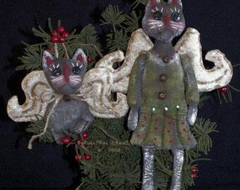 Christmas Black Cat Angel Ornaments E Pattern