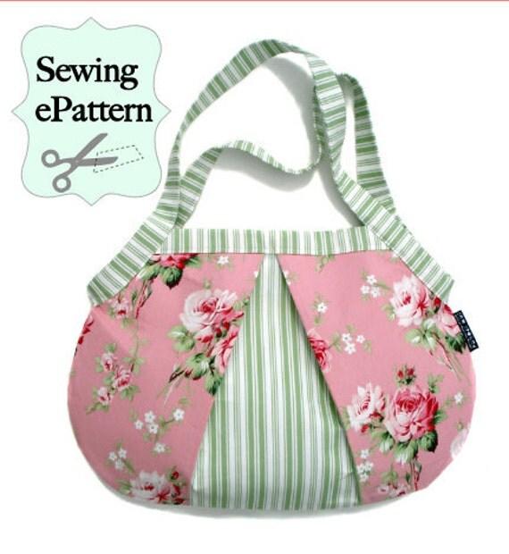 2- PDF Sewing Pattern, Sew Spoiled Ladybug Shoulder Bag and Weekender Tote