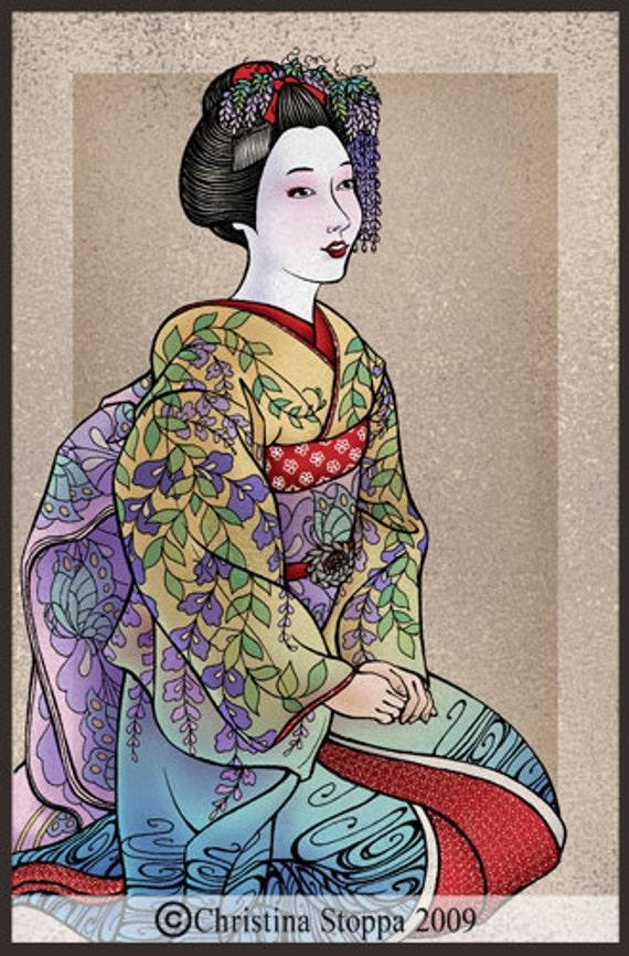Spring Maiko - Original Art Print by Christina Stoppa