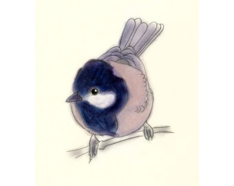 "Bird wall art  Little Bob  (4"" X 6"" print) - 4 for 3 sale"