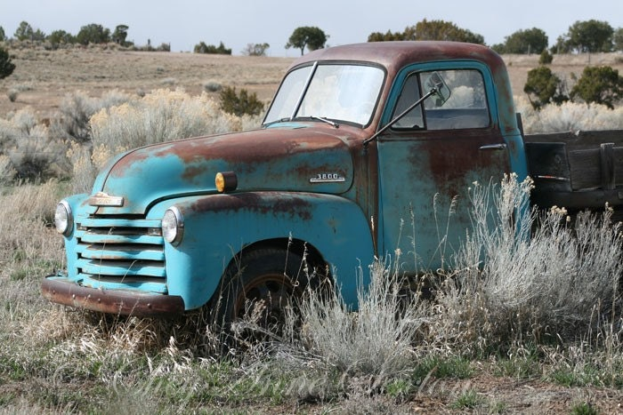 Old Blue Chevrolet pickup New Mexico antique by ...
