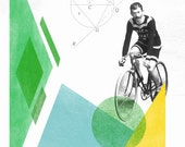 Bicycle No1: Collage Poster 11x17in