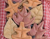Fall Leaves ePattern -primitive fall autumn thanksgiving halloween digital download craft sewing pattern - 1.99 - PDF