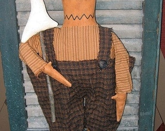 Pumpkin Pete EPATTERN - primitive halloween cloth doll ghost craft digital download sewing pattern - 1.99 - PDF