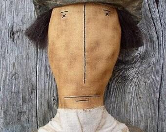 Mr Pilgrim EPATTERN - primitive thanksgiving fall autumn cloth doll craft digital download sewing pattern - 1.99 - PDF