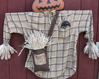 Jack Scarecrow EPATTERN-primitive fall halloween harvest thanksgiving cloth doll craft digital download sewing pattern PDF - 1.99