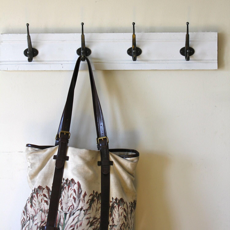 Simple White Coat Rack By Bluebirdheaven On Etsy