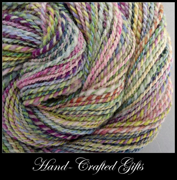 Rare Texel Sheep Handspun Yarn - Rainbow - DK, 1.8oz, 94yd, WPI10